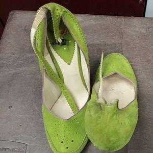 Neon Paul Smith suede shoe